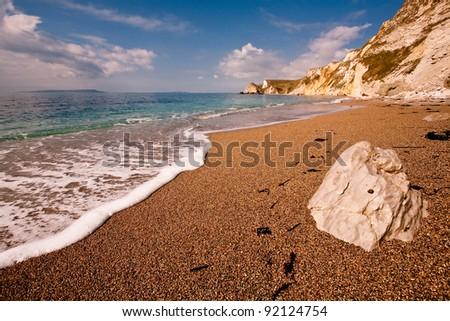 St Oswald's Bay - an empty beach at St Oswald's Bay on the Dorset Jurassic Coast