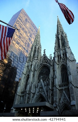 St Patrick church, New York. - stock photo