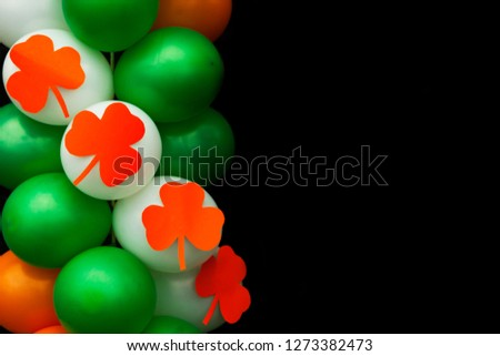 St.Patrick 's Day. Clover. Holiday colors. Clover. Irish holiday. Symbols of St. Patrick's Day. Restaurant menu for St. Patrick's Day. Place for text.