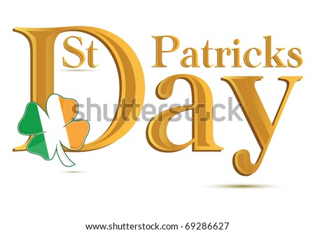 St.Patrick's Day gold text