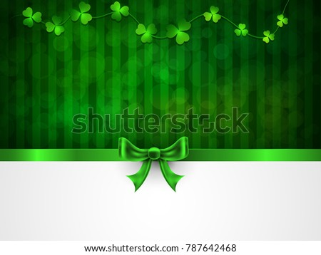 St. Patrick's Day. Greeting card with a St. Patrick's Day