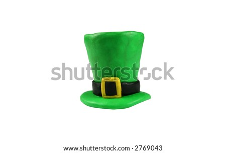 St. Patrick's Day hat, isolated on white
