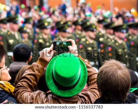 St. Patrick's day parade in Dublin, Ireland.
