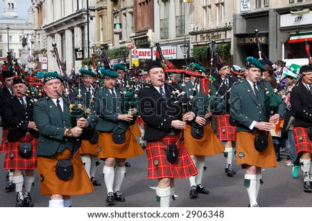 St Patrick's Day Parade, 18 march, London, United Kingdom