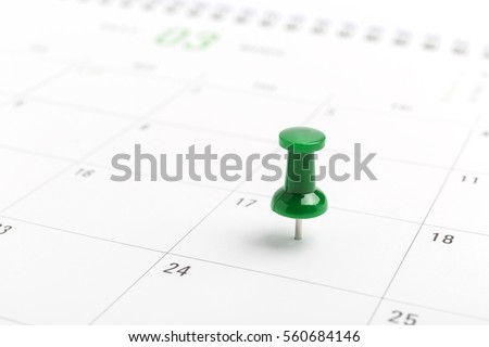 st patricks day on march calendar pin.