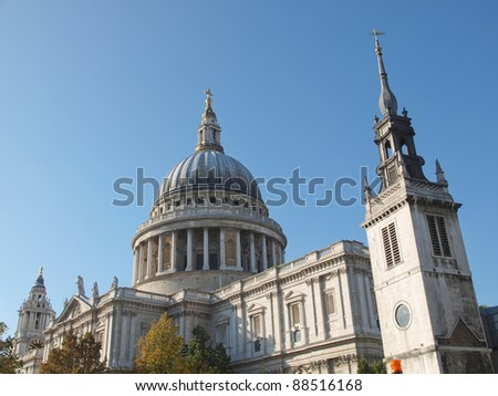 St Paul Cathedral in London United Kingdom (UK) - stock photo