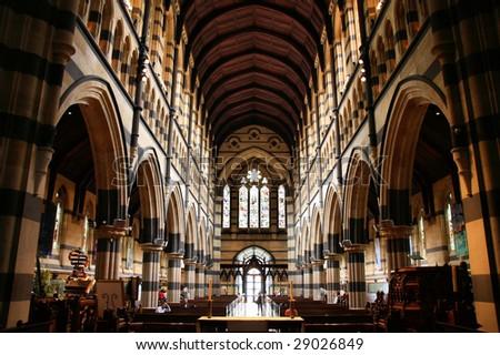 St. Paul's Anglican Cathedral interior in Melbourne, Victoria, Australia