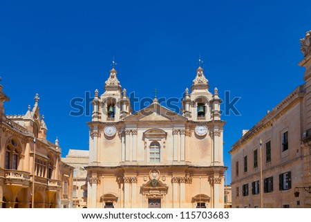 St. Paul's Cathedral, Mdina, Malta