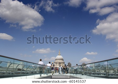 St Pauls looking from the Millennium Bridge, London