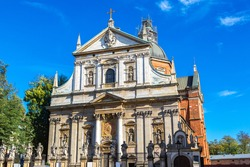St. Peter and St. Pauls Church in a summer day in Krakow, Poland
