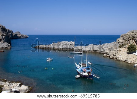 St. Peter Bay in Rhodes, Greece