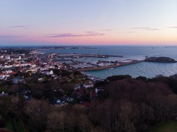 St. Peter Port, Guernsey from the air