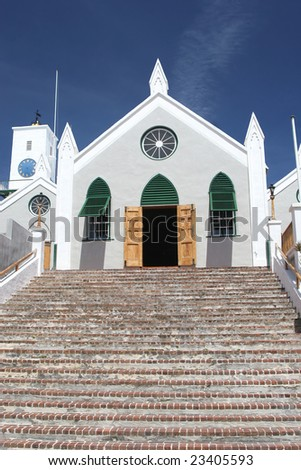 St. Peter's Anglican Church in the community of St. George's on the island of Bermuda.  St Peter?s Church is believed to be the oldest continually used Anglican church in the Western hemisphere.