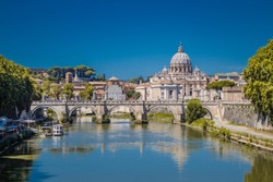 St peter's basilica in rome with the tiber