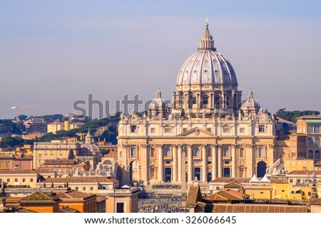 Photo of  St Peter's basilica in Vatican, Rome