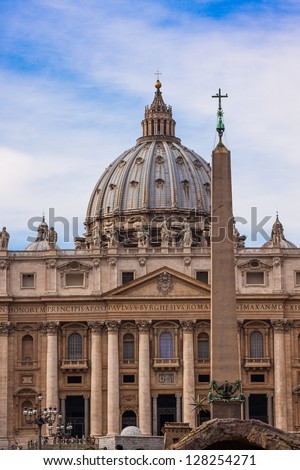 St. Peter's Basilica, St. Peter's Square, Vatican City.