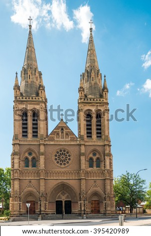 St. Peter's Cathedral of Adelaide on a day, South Australia. #395420989