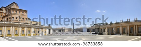 St. Peter's Square. Vatican. panorama