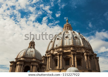 St Peters basilica in Vatican City, Rome Italy