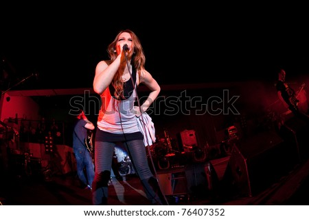 """ST. PETERSBURG, RUSSIA - APRIL 19: Group """"Guano Apes"""" in concert on April 19, 2011 in St Petersburg, Russia - stock photo"""