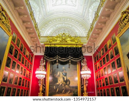 ST. PETERSBURG, RUSSIA - DECEMBER 28, 2011: Victory over Napoleon in State Hermitage Museum.  #1354972157