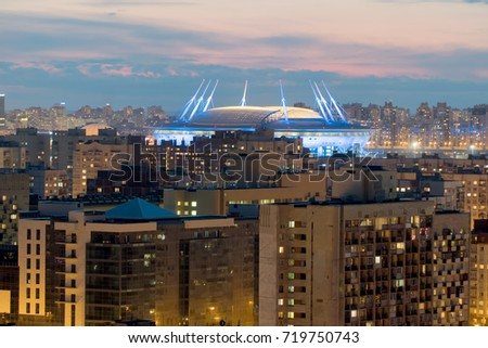 Shutterstock St. Petersburg. Russia. The new stadium Zenit arena. View from the height
