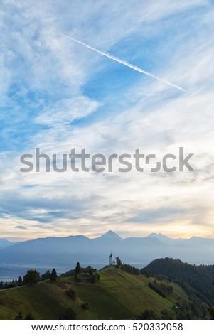 St. Primoz church in Yamnik , Slovenia #520332058