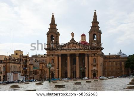 St. Publius Cathedral at Floriana. Malta