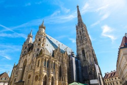 St. Stephen's Cathedral in Vienna, Austria in a beautiful summer day