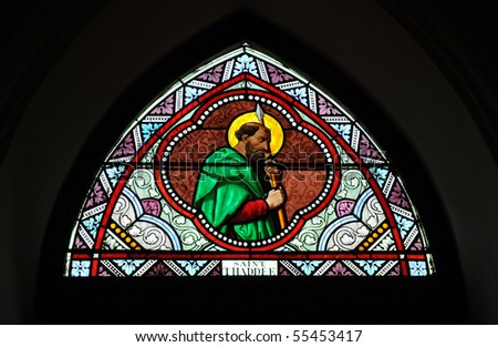 St. Thaddee Stained Glass Color