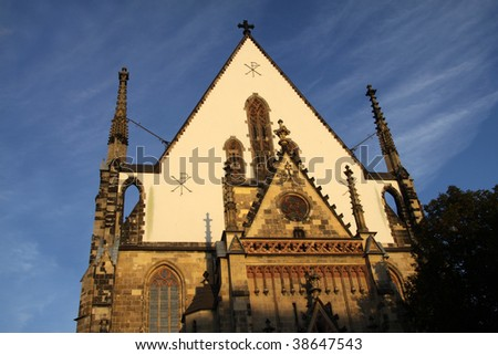 St. Thomas Church in evening sun. Leipzig