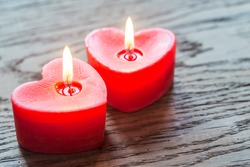 St. Valentine's day burning candles