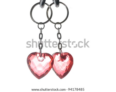 St. Valentine's symbols isolated on white