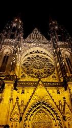 St. Vitus Cathedral at night, Prague