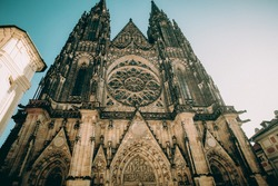 St. Vitus Cathedral Prague czech republic The history of the Cathedral begins in 1344, when its construction began on the site of the former rotunda of St.