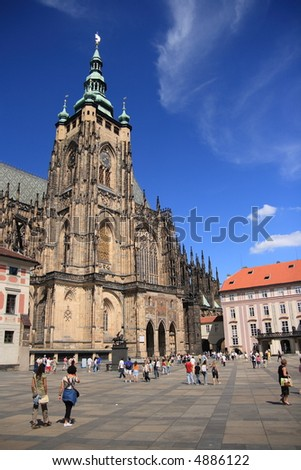 St Vitus's Cathedral at  Prague, Czech republic