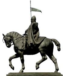St. wenceslas statue on White background
