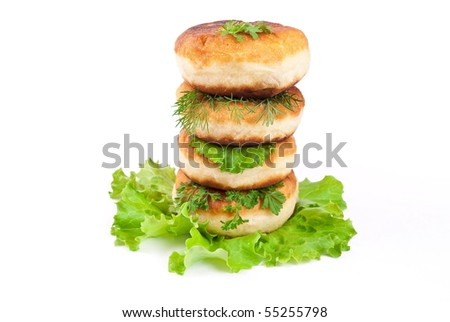 Stack cakes with meat