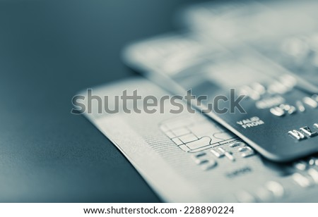 Stack of bank cards