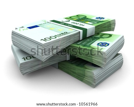 Stack of  100€ bills