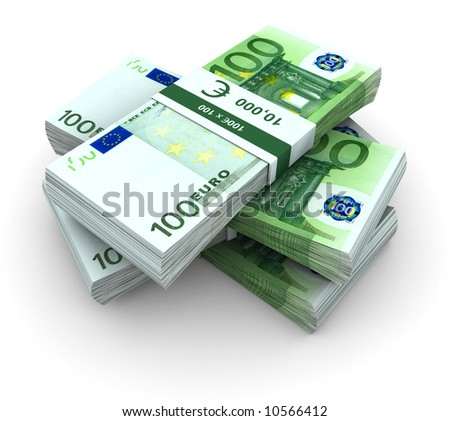stock photo : Stack of  100€ bills