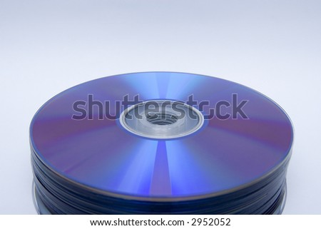 stack of blank cdrom or dvd ready to burn music mp3 movies or backup data