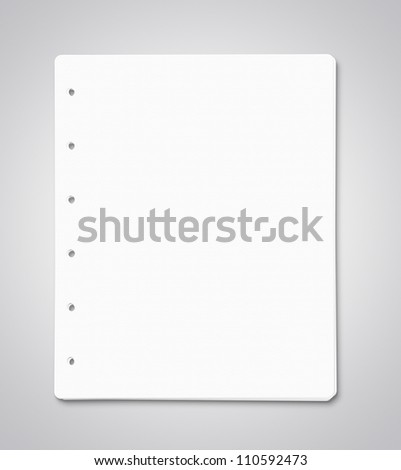 Stack of blank paper sheets with clipping path