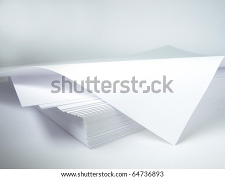 Stack of blank papers