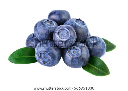 stack of blueberries isolated...