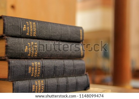 Stack of Book of Common Prayer