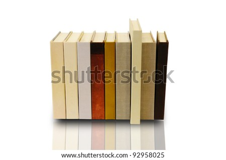 Stack of book on white background with clipping path