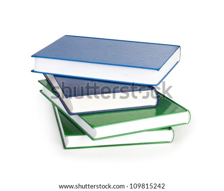 Stack of books isolated on the white