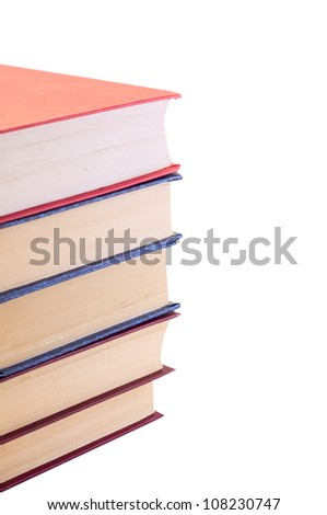 stack of books,  isolated on white - stock photo