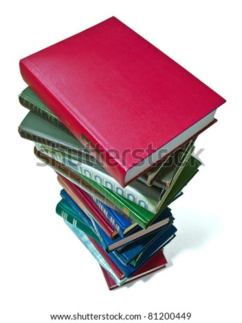 stack of books isolated on white background. clipping path included.